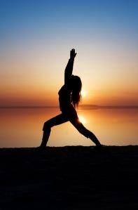 Yoga-Silhouette
