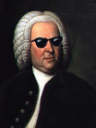 bach with shades