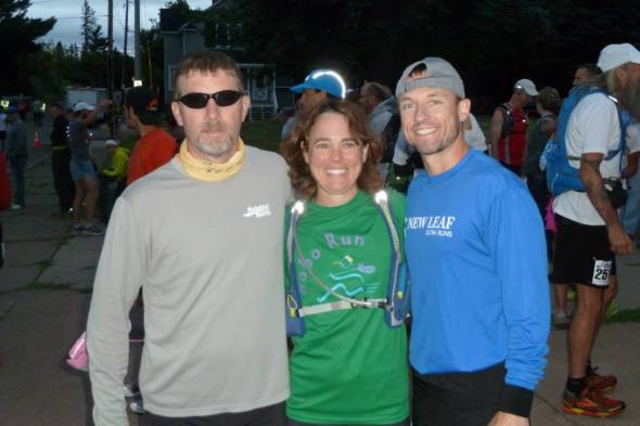 Jim, Kirsten and I pre-race. (Image courtesy of Kirsten Pieper)