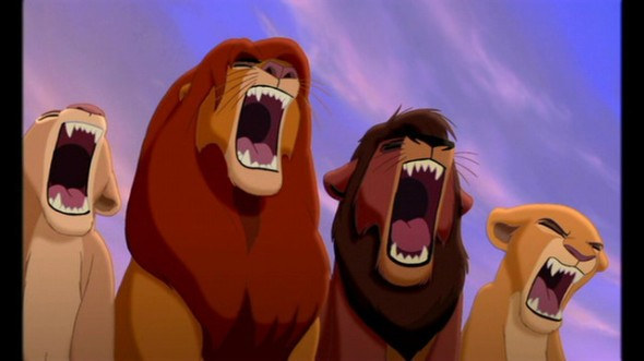 simba and family roaring