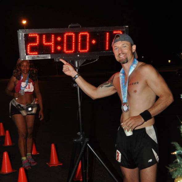 24 hours, 94 miles, 43 mile distance PR. (Image courtesy of Nate Pualengco)