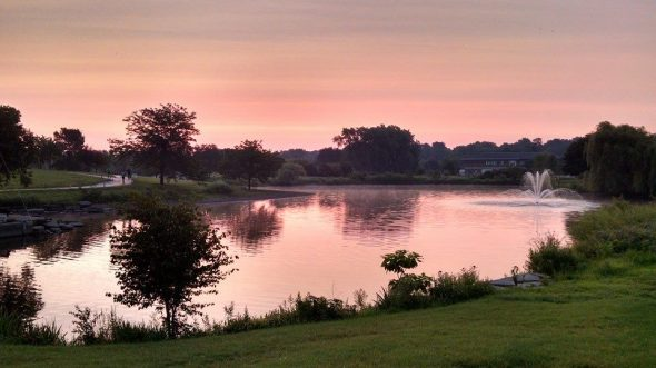 Sunrise over Lisle. (Image courtesy of Tony Weyers)