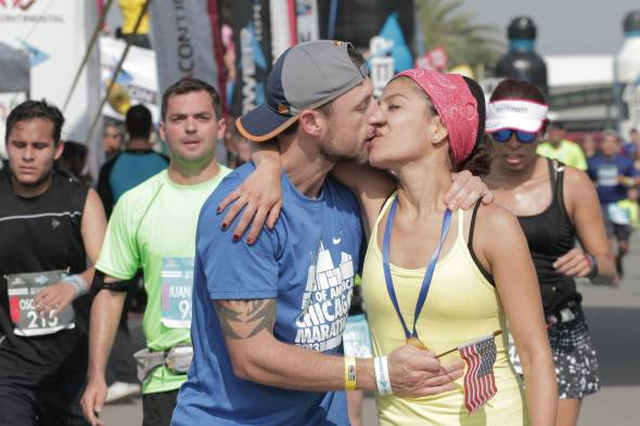 Jeff and Edna Powerade Maraton Monterrey 2014