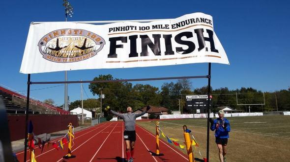 Jeff Lung Pinhoti 100 Finish Line