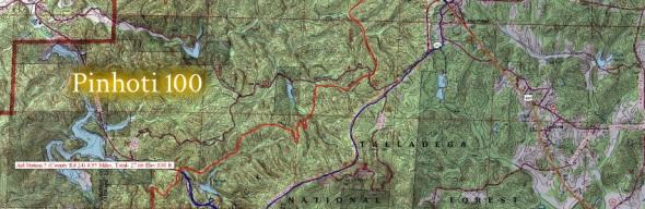 Pinhoti 100 map