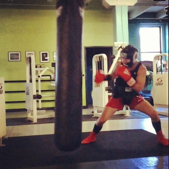 Jeff Lung heavy bag