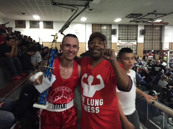 (with cornerman Melvin Miller, Jr.)